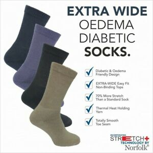 Norfolk Wool Blend /Cushioned X-Wide Socks with Stretch+ Technology - Peter