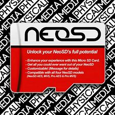 NeoSd Aes Mvs & Pro Sd Card. Comes With All The Goodies U Crave For Ur Neo Geo!