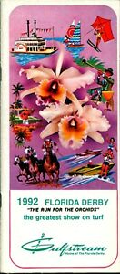 1992 Horse Racing Program  The Florida Derby  MINT