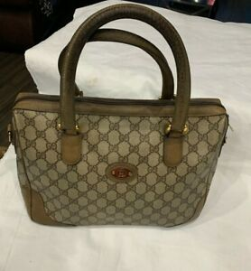 vintage gucci leather Large Handbag
