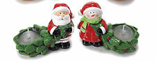 Figurines de Noel en ceramique de couleur avec bougie