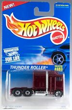 Hot Wheels Collector No. 483 Thunder Roller Truck Maroon Red w/BW's MOC 1996