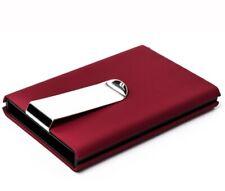 Credit Card Holder RFID Blocking Money Clip mens Designer Wallet Metal / Leather