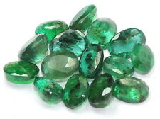 20.60 CT NATURAL ZAMBIA EMERALD GEMSTONE OVAL CUT DARK GREEN WHOLESALE LOT $$