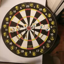 """""""The Simpsons"""" REAL Metal Tips 2-Sided Dart Board Set 2004"""