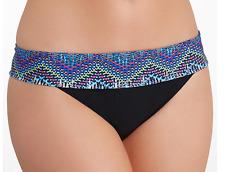 Profile By Gottex Skyline Fold-Over Bikini Bottom Black with Multi Color 8
