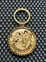 Vintage Nintendo Pokemon Center 2005 Gold Medal Coin Keychain Rare Pikachu Promo