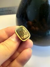 """""""R"""" Jewellery Men's Ladies' Antique Gold-plated Fob/Pendant Bloodstone Initial"""