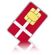 SIM Karte für Dänemark mit 1GB mobiles Internet Standard/Micro + 200 Min