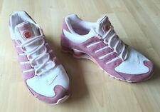 Nike Shox Pink White Suede Shoes Women's Size 9 Sneakers 311137 162