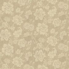 Casa De Muñecas Beige Estampado De Flores De Tela Estilo Dibujo Papel Pintado