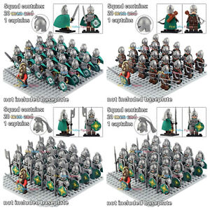 21pcs Rohan Rider Army Frodo Lord of The Rings Figure Lego Military Minifigure