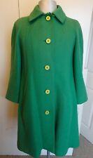 Womens Vintage Aquascutum Green Wool Winter Coat Jacket VGC - UK 14