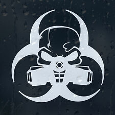Biohazard Gas Mask Car Decal Vinyl Sticker For Window Bumper Panel