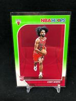 2019-2020 Coby White Panini NBA HOOPS #204 Lime Neon Green Rookie Card Rare V60