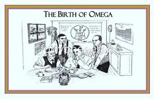 "BIRTH OF Series - Omega Psi Phi Print - BIRTH OF OMEGA 11"" x 17"" Version 2"