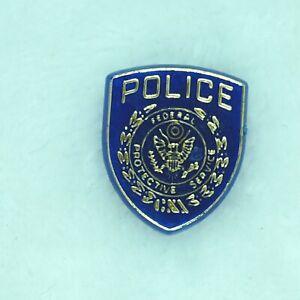 FPS Police Vintage Mini Badge - Federal Protective Service Lapel Pin Souvenir