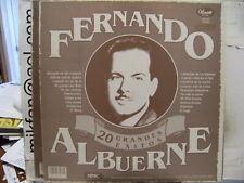 FERNANDO ALBUERNE 20 Grandes Exitos PANART LP