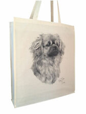 More details for tibetan spaniel cotton shopping bag tote gusset xtra space perfect gift