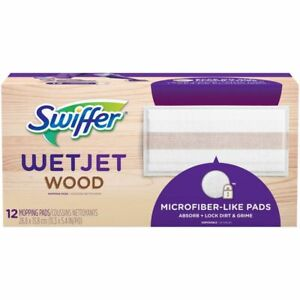 SWIFFER WETJET WOOD SWEEPING CLOTH REFILLS 10 COUNT