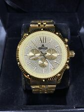 Men's Diamond Watch ICETIME Royal 45mm Steel Gold Plated