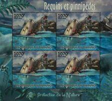 Sea & Marine Life: Great White Shark & Seal Stamp Sheet #2 (2012 Burundi)