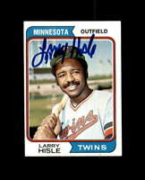 Larry Hisle Signed 1974 Topps Minnesota Twins Autograph