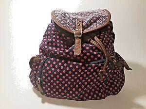 Backpack Sequins Navy Blue Pink Polka Dots Women's Steve Madden Style