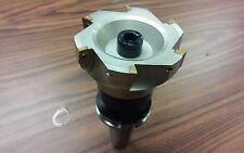 4 90 Degree Indexable Face Shell Millface Milling Cutter Apkt W Cat40 Arbor