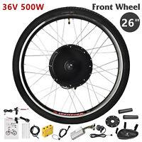 "26"" Front Wheel 36V 500W Electric Bicycle E-bike Kit Conversion Cycling Motor"