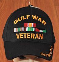 New Black US Military Gulf War Veteran Hat Baseball Ball Cap Army Navy Marines