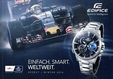 Casio Edifice Prospekt Herbst Winter 2016 D Uhren brochure watches montres