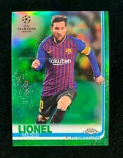 2014 Topps Chrome UEFA Champions Lionel Messi Green Refractor #/99 NR!