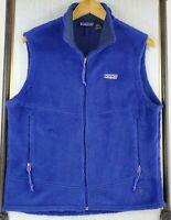 VTG PATAGONIA Medium Womens USA Made R Regulator Deep Pile Blue Fleece Vest