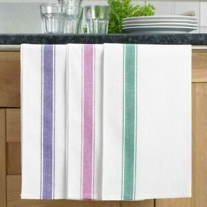 Luxury Linen Cotton Glass Towels Set Cleaning Drying Kitchen Cloths Pack Of 10