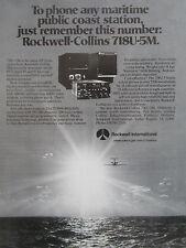 2/1980 PUB ROCKWELL COLLINS TELECOMMUNICATION 718U-5M HF TRANSCEIVER ORIGINAL AD