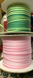 "Embroidery Trim Flower 1/8"" Ribbon Ombre 1yd Made in France"