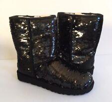 UGG CLASSIC SHORT SEQUIN SPARKLES MULTI COLOR BLACK BOOTS US 10 / EU 41 / UK 8