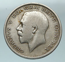 1920 Great Britain United Kingdom UK King GEORGE V Silver Half Crown Coin i84492