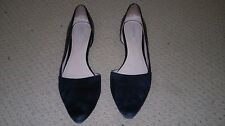 Cole Haan-Size 11 B-Black-Suede-Full Leather-Ladies-Teen-Youth-Comfortable-Soft