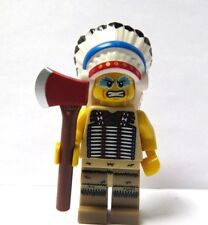LEGO Male Man Minifigure Figure Indian Chief & Axe Western Tribal Apache Warrior