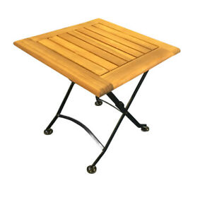 Flex Bistrotisch 45x45 cm Klapptisch Gartentisch Holztisch Akazie massiv