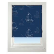 Universal 90cm Navy Boats Blackout Roller Blind Window Dressings