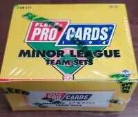 1994 Fleer ProCards Albany-Colonie Yankees Box: 10 Team Sets Packs Andy Pettitte
