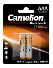 Camelion 1000 mAh AAA Micro Akku 2 Stück Aufladbar für Telefon Telekom Siemens