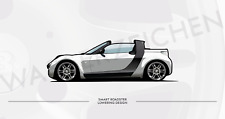Smart Roadster 452 Cabrio/Coupe Artwork Poster Silber A4
