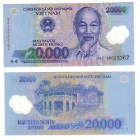 Banknote- Vietnam 2003-19, 20,000 Dong, P120 UNC, Ho Chi Minh (F) Palace (R)
