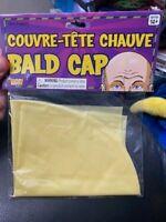 Fake Latex Flesh Skin Unisex Bald Head Wig Cap Rubber Skinhead Costume Prank ME