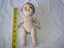 Doll Artist Crafted 1984 Bisque Porcelain Reproduction Campbell Kid Brown Hair
