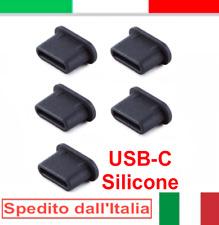 5x tappo antipolvere protezione USB Type-C gomma nero per Motorola RAZR 2019